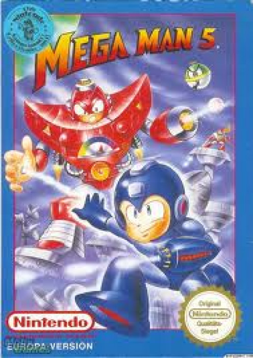 Mega Man 5 was produced for the original 8-bit Nintendo. The gameplay was simple but at the same time very addicting.