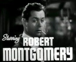 """A 1937 cropped screenshot of Robert Montgomery from the trailer for the film """"Night Must Fall"""""""