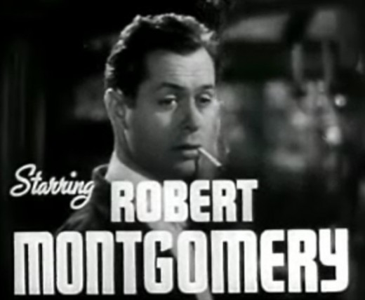 "A 1937 cropped screenshot of Robert Montgomery from the trailer for the film ""Night Must Fall"""