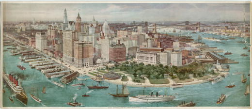 Lower Manhattan at the turn of the 20th Century