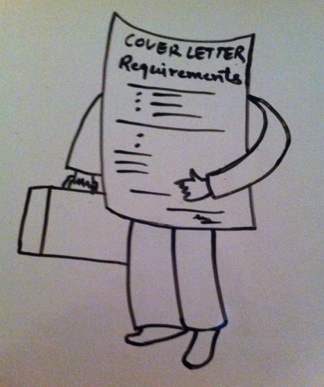 Job application cover letter requirements