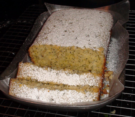 Moist and delicious, this cake is drenched in lemon syrup.
