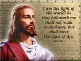 Jesus Christ is the Light Of the World because He brings God's Way of Righteousness and Salvation.
