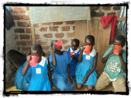 Children benefiting from Project Porridge