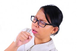 Coughing spreads cold germs to others and you risk reinfecting yourself.  Avoid the public while sick.