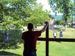 open air preaching Tallyride Park Bellefonte, Pa