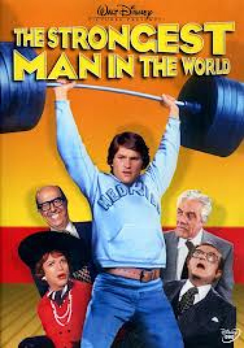 The Strongest Man on Earth stars Kurt Russell and was made by Disney. This was a cute movie.