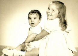 My brother and I.  He was 8 months old, I was 4.