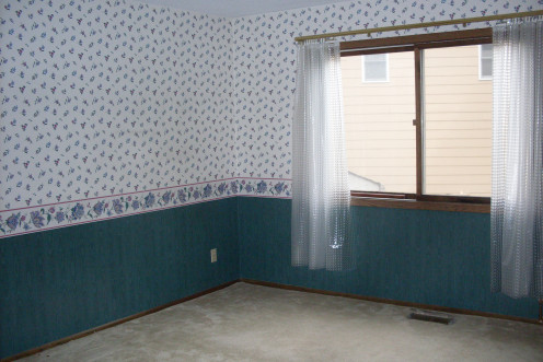 Shower-curtain liner drapes with a no-see-through pattern pulled open, just like regular drapes.
