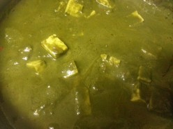 Nutritional and aromatic Veg Palak Paneer Recipe - Cottage Cheese cooked with Spinach