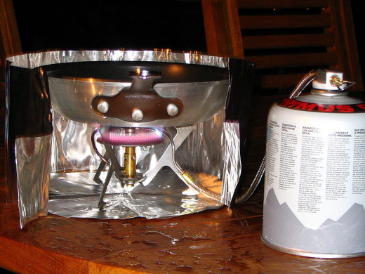 A backpacking stove.