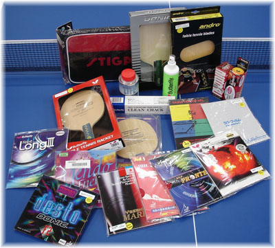 Table tennis equipment and accessories