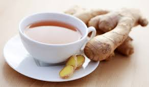 ginger tea helps to ease pain
