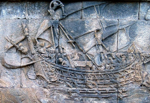 Ship Relief in Borobudur Temple.