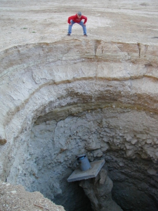 Sinkholes are opening up the Earth all around the globe, this one is in Israel.