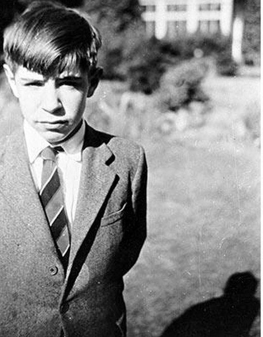 Stephen Hawking as a child