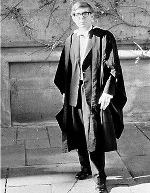Stephen Hawking in college