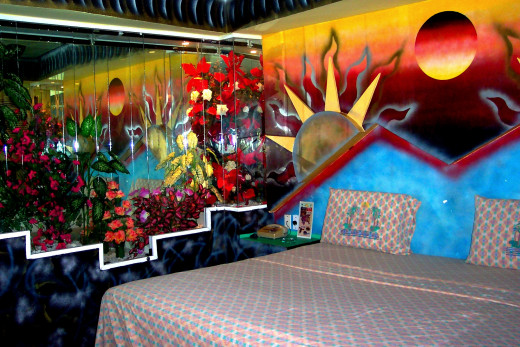 Ah, Mexico, thanks for the crazy colorful hotel room -- I don't have any crazy customer service stories to remember you by!