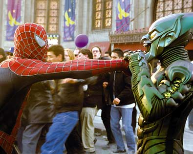 Spider-Man and Green Goblin Face-Off