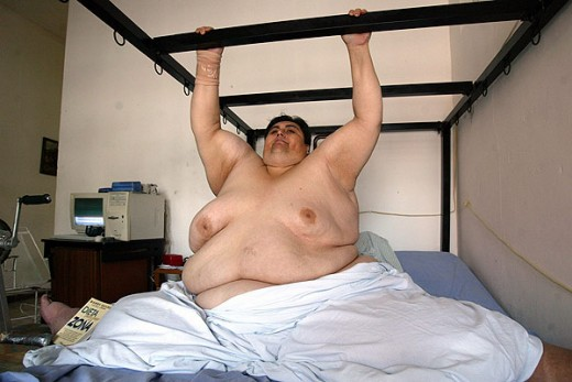 Manuel Uribe, born 1965, weighed 1,320 lbs at his heaviest.