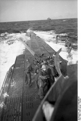 Images from U-123 dated January 1942 with a merchant ship in the distance. This may well be the CULEBRA which was attacked from a position facing the stern.