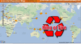 Earthquake activity in the Ring of Fire usually spells EQ activity for the Nasca Plate, Coco Plate and South America Plate.