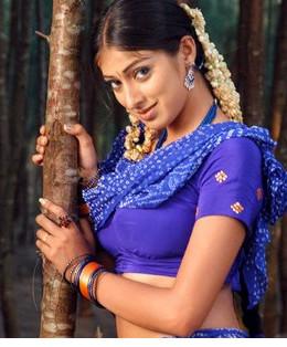 Lakshmi Rai on set.