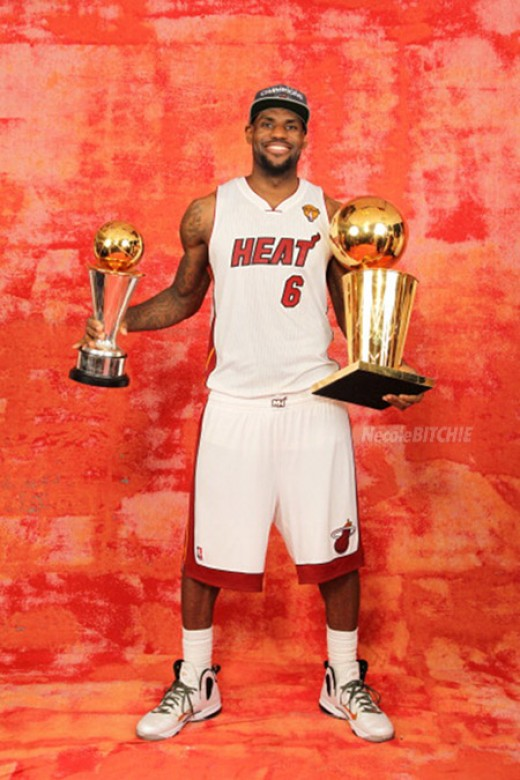 Lebron with his 3rd M.V.P and 1st championship