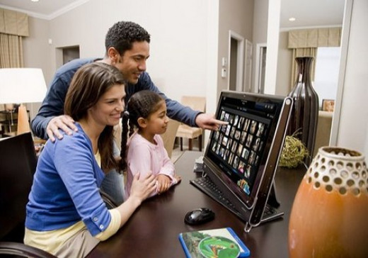 The HP TouchSmart Computer is Ideal for family use