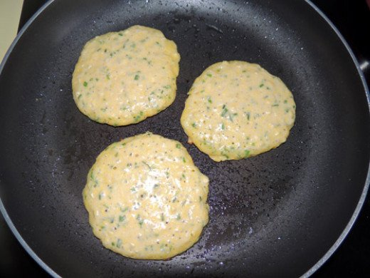 make them spatula sized, because they are fragile - flip when air bubbles form and pop