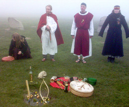 The Swedish Asatru Society) holding a blót (an Asatru ceremony).