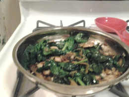 Added the spinach