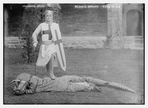 "St George with ""dragon"" (~1910)"