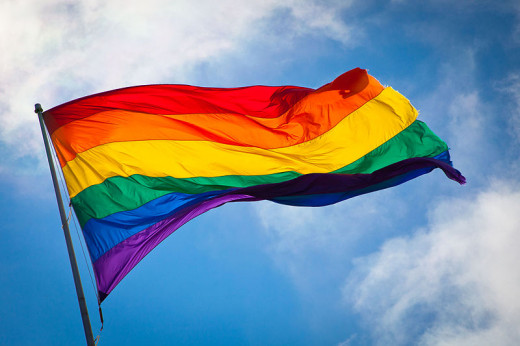 Rainbow flag, a symbol of tolerance.