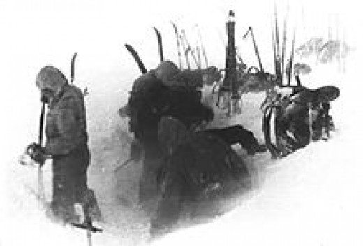Dyatlov's team establishes camp on February 1,1959.