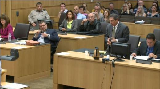 Defense attorneys Jennifer Wilmott and Kirk Nurmi and prosecution team ...