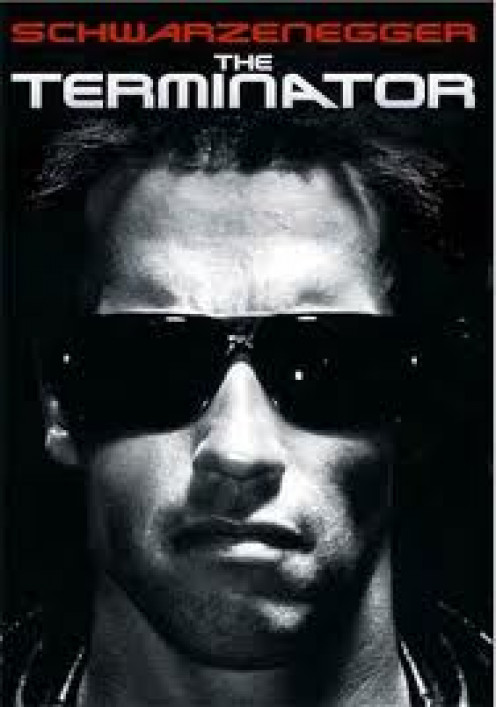 The Terminator came out in 1984 and has had several sequels. It is rated R and it mixes the present time and the future.