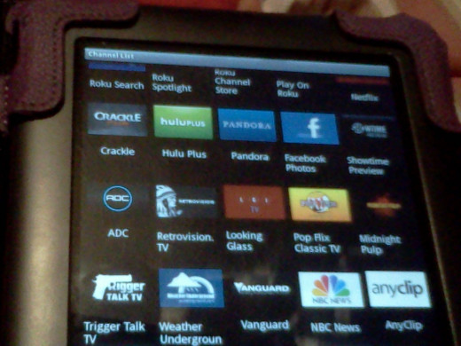 My Nook Color running the Roku App