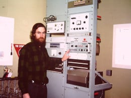 We had a number of transmitters: two were 1,000 kilowatt jobs for long distance communicaiton with Australia, and the remainder low powered at around 50 watts.