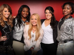 L to R: Angie Miller, Candice Glover, Janelle Arthur, Kree Harrison, Amber Holcomb