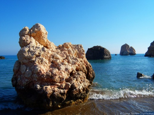 Another view of Aphrodite's Birthplace, also known as Petra tou Romiou.