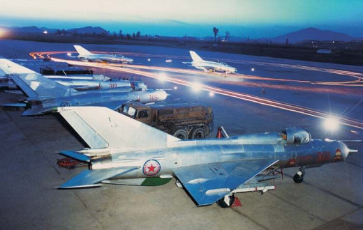 MiG-21 Fishbeds at a North Korean airbase