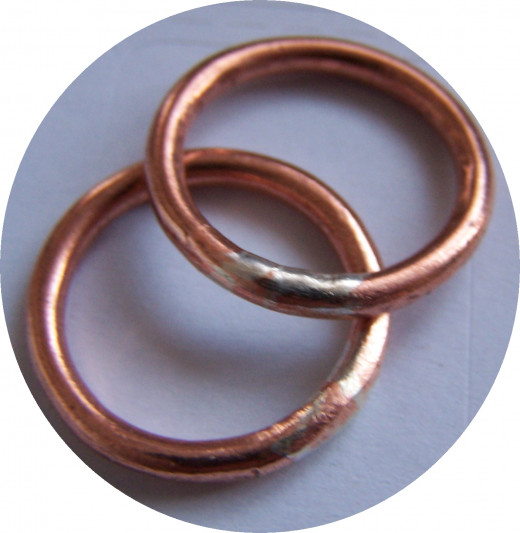 Tips for Soldering Silver and Copper: When soldering silver or copper you need to file and polish the join.   Source: Author