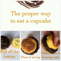 The Best Way to Eat a Cupcake