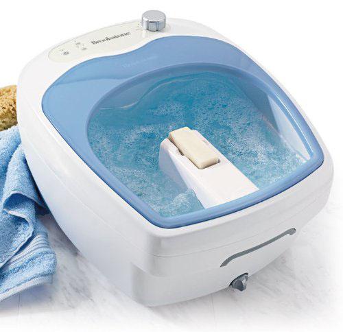 The Brookstone heated foot bath
