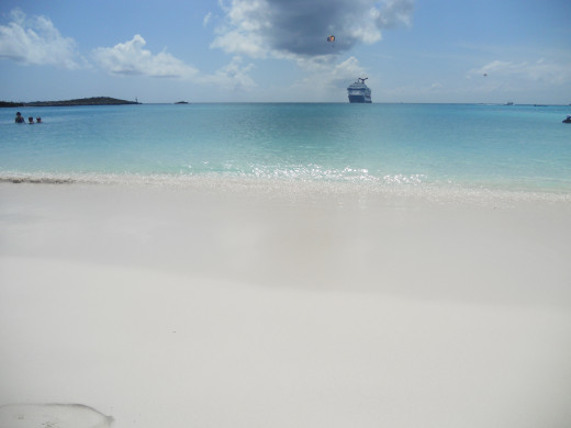 View of the Carnival Boat from the Beach