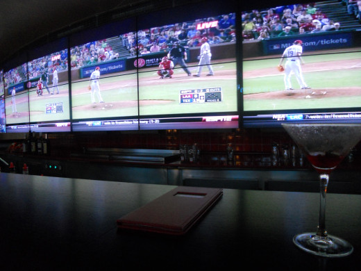 Big Screen TVs at the Sports Bar