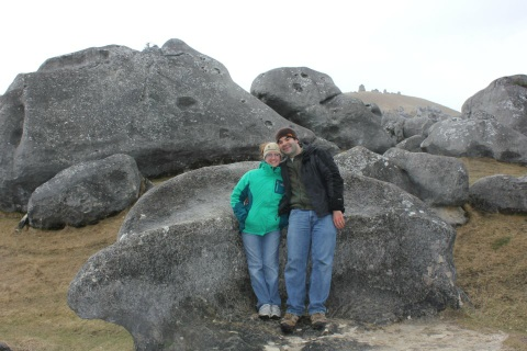My wife and I at Castle Hill, a place they filmed parts of Lord of the Rings.