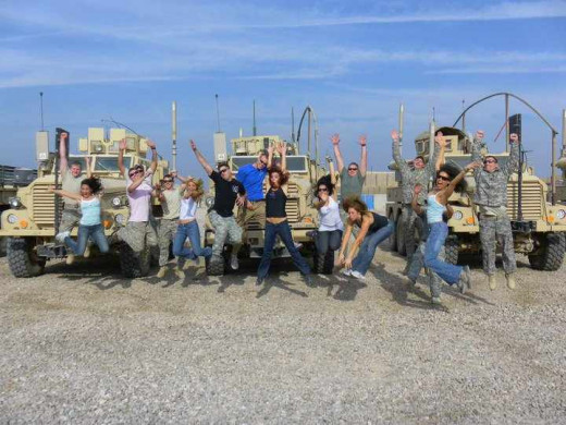 Purrfect Angels, Contractors and Soldiers in front of some MRAPs in GOD knows where.