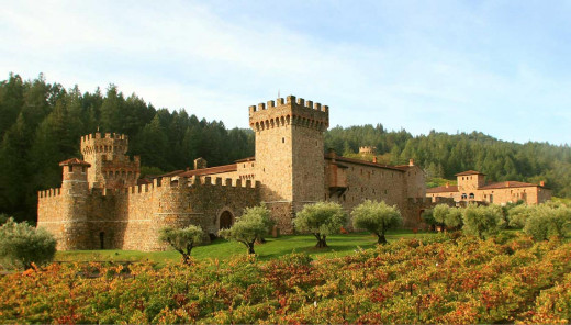 View the Napa Castle from Sterling Winery